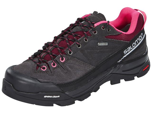 Salomon X Alp LTR GTX Hiking Shoes Women asphalt/bord/hot pink